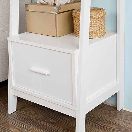 SoBuy Haotian Modern ladder bookcase made of wood, book shelf,stand shelf, wall shelf (FRG116-K-W) by SoBuy (Image #3)