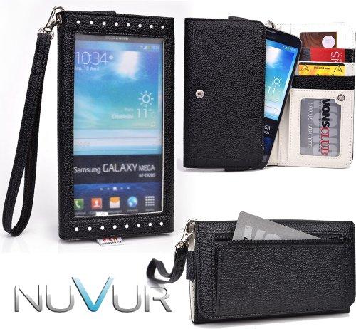 Black [[EXPOSE]] Clutch Phone Case Cover May Fit Pantech Vega R3 IM-A850L + NuVur ™ Key Chain (ESXLEXK1)