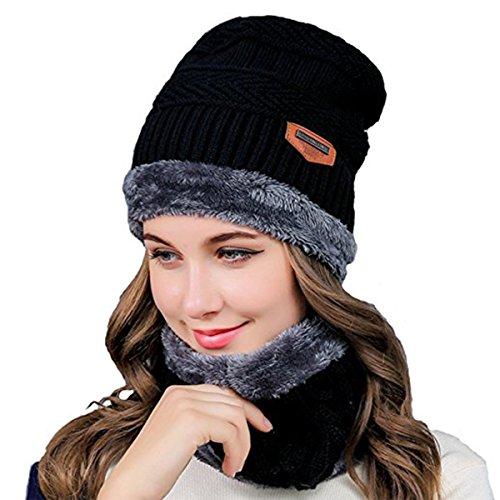 Esther Beauty Ladies Women Winter Beanie Hats Cosy Fleece Liner Knitted Wool Caps Skullies Warm Hats (Cosy Winter Warmer)