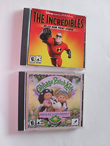 The Incredibles PC-CD ROM Print Studio and Cabbage Patch Kids Where's My Pony? (2 discs) - Cabbage Patch Pony