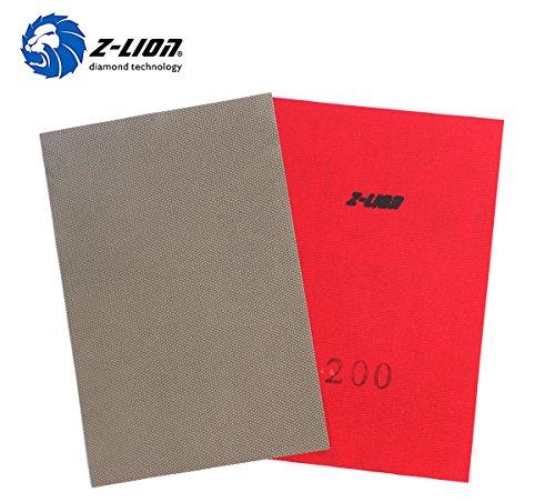 Z-Lion Diamond Electroplated Abrasive Paper Sheets Diamond Sandpaper 200 for Grinding Stone Glass Ceramic Diamond Tool ()