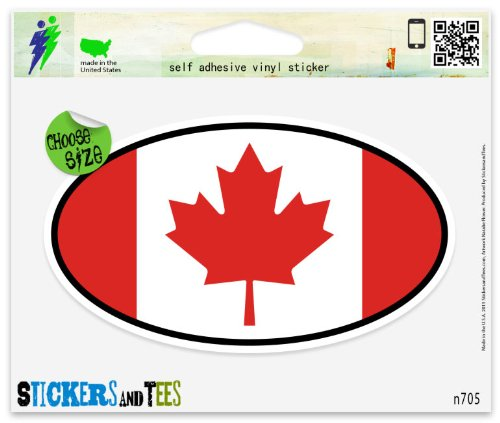 canada oval decal - 6