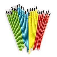 Brochas para niños Darice para niños (24 piezas) - Surtido de 4 colores perfectos para manos pequeñas - Viene en una bolsa reutilizable para un fácil almacenamiento - Brochas resistentes a los cobertizos - Ideal para proyectos grupales