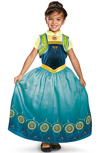 Anna Frozen Fever Deluxe Costume, One Color, Small