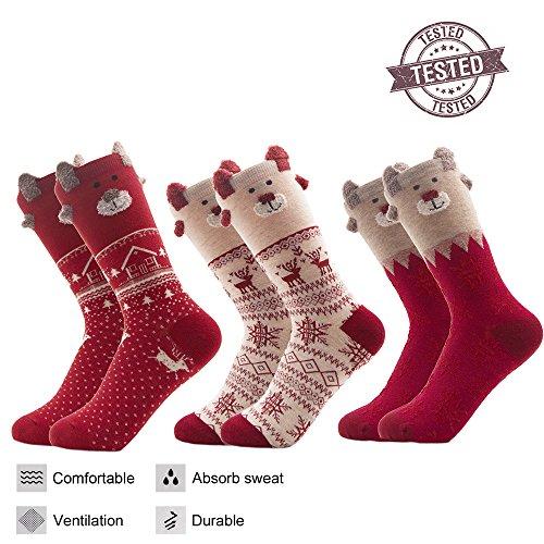 Christmas Socks for Women funny socks Cartoon Thanksgiving Gift Novelty Casual Holiday Bed Soft Comfort Dress Socks Thanksgiving And Christmas Funny