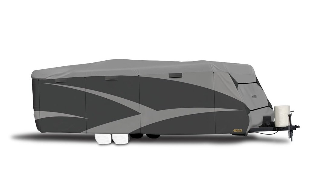 """ADCO 52247 Designer Series SFS Aqua Shed Travel Trailer RV Cover - 34'1"""" - 37'"""