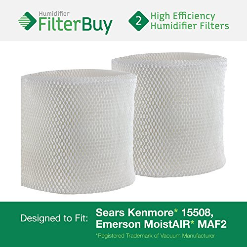 2 - MAF2 Emerson MoistAIR & 15508 Sears Kenmore Humidifier Wick Replacement Filters. Designed by FilterBuy to replace Emerson Part # MAF2 & Kenmore Part # 15508, Noma Part #EF2 (Kenmore Humidifier Filter 17006 compare prices)