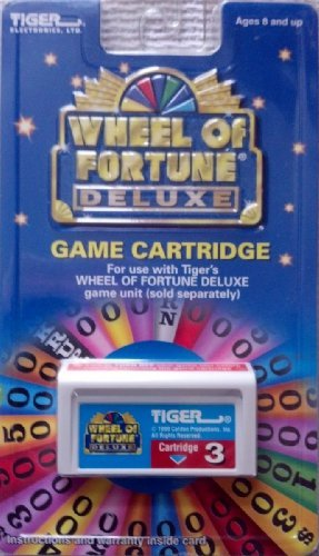 Tiger Wheel of Fortune Deluxe Game Cartridge #3