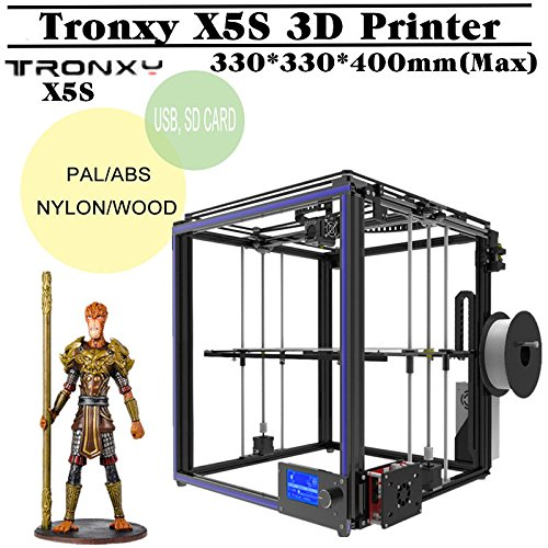 Tronxy X5S Upgrade DIY Desktop 3D Printer Kit | Large Printing Size 300x300x400mm with Metal Frame Structure, Dual Z Axis, Surpport PLA, ABS, Hips, Wood, PC, PV