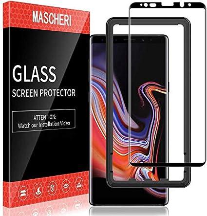 MASCHERI Protector de Pantalla para Samsung Galaxy Note 9 3D Cobertura Completa Marco de posicionamiento Vidrio Templado Samsung Galaxy Note 9 Cristal Templado Negro: Amazon.es: Electrónica
