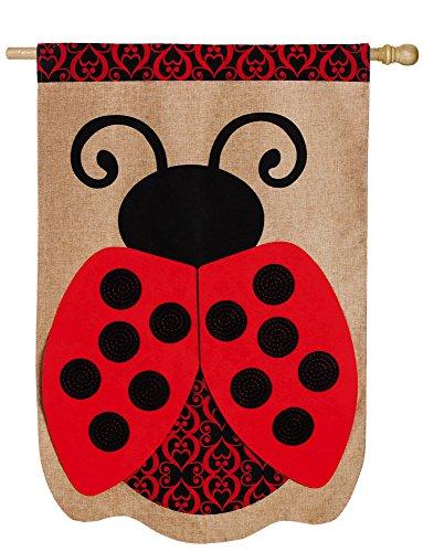 Evergreen Enterprises 13B3575BL Ladybug Vertical Flag Ladybugs Banner Flag