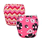 Alva Baby 2pcs Pack One Size Reuseable Washable Swim Diapers SW11-YA104-CA
