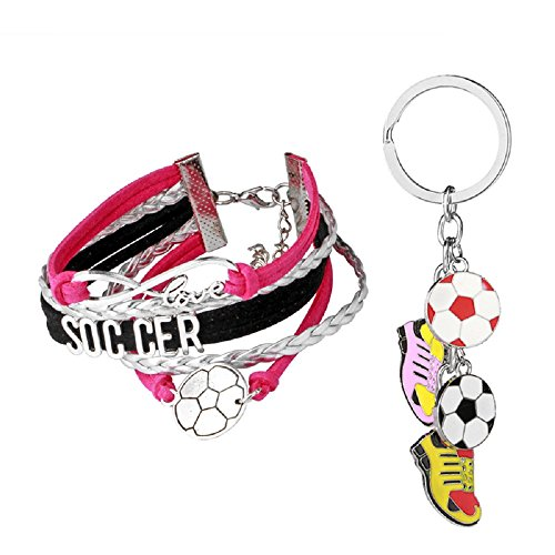 Solo Cup Lobster Costumes - WORT Soccer Gifts Soccer Bracelet PLUS Football Boot Soccer Shoe Keychain,Soccer Jewelry,Sports