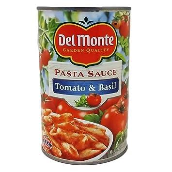 Del Monte Tomato & Basil Pasta Sauce (Case of ...