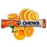 GU Energy Labs Chews Double-Serving Sleeve, Orange, 18-Count