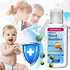 MORETIME 0 Alcohol Baby Hands-Free Water Hand Gel Antibacterial Refreshing Mini Disposable 30ml(1 Fl Oz) Pocket Size for Kids/Adults