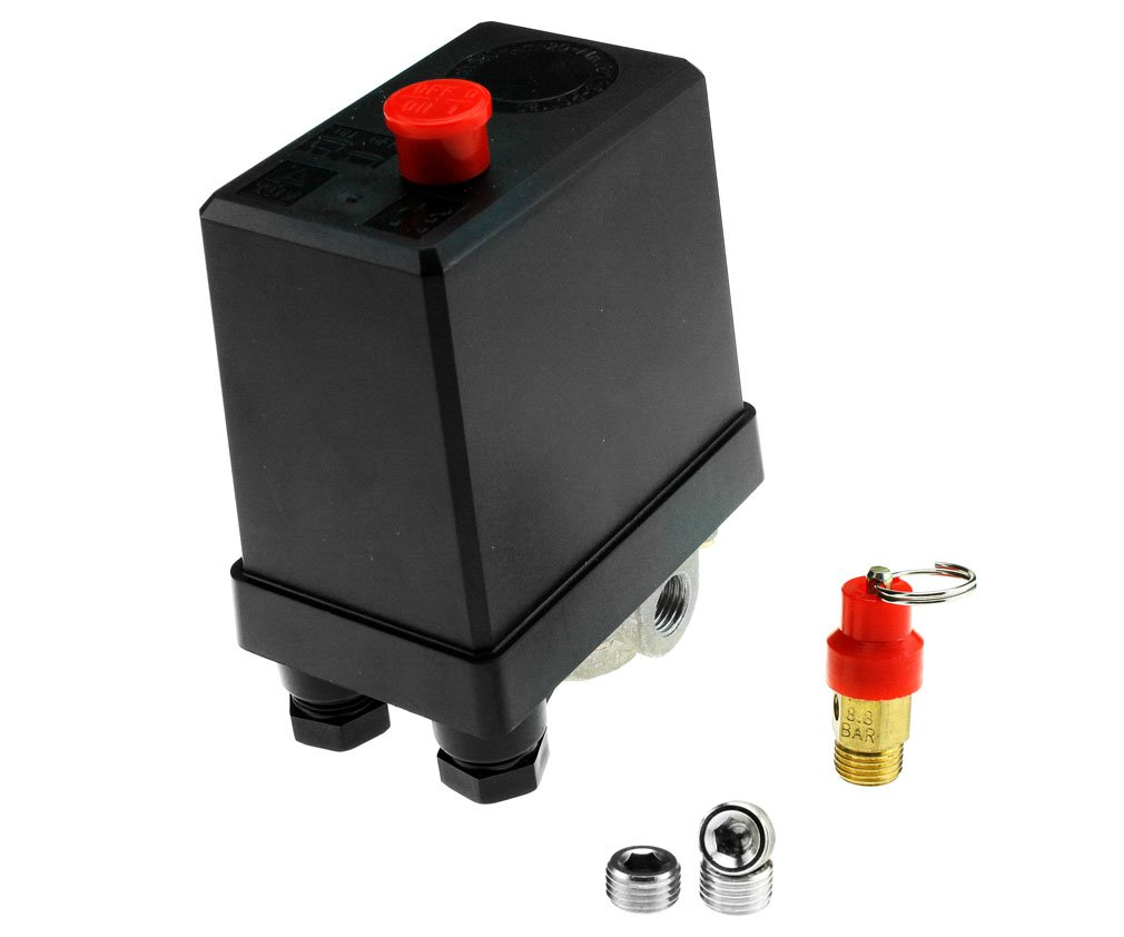 Three Phase Air Compressor Pressure Switch With Blanking Plugs & Safety Value