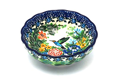 Polish Pottery Bowl - Shallow Scalloped - Small - Unikat Signature ()