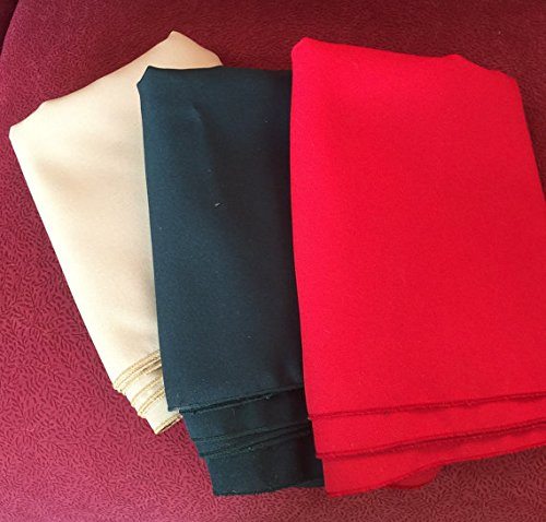 8 Xmas green and 8 Red Napkins 24 Pack Of Cloth Napkins Birthday Dinner Bridal or Baby Shower Christmas Dinner 8 Gold