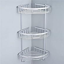 Triangular Aluminium Hanging Bathroom Shower Corner Storage Shelf Rack Holder Basket