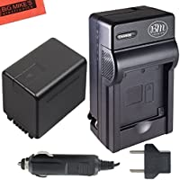 BM Premium VW-VBT380 Battery and Battery Charger for Panasonic HC-V160, HC-V180, HC-V380, HC-V510, HC-V520, HC-V550, HC-V710, HC-V720, HC-V750, HC-V770, HC-VX870, HC-VX981, HC-W580, HC-W850, HC-WXF991