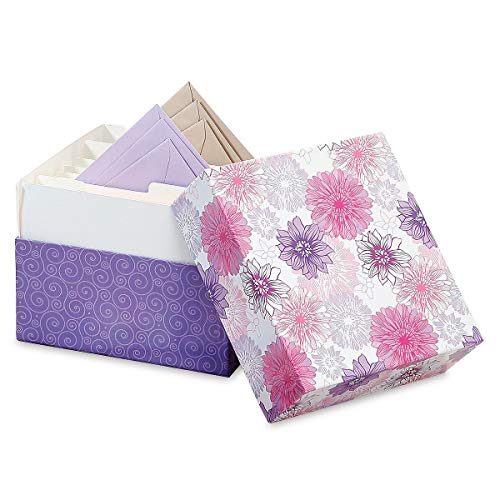 Lavender Blooms Greeting Card Organizer Box - Stores 140+ Cards (not Included). 7