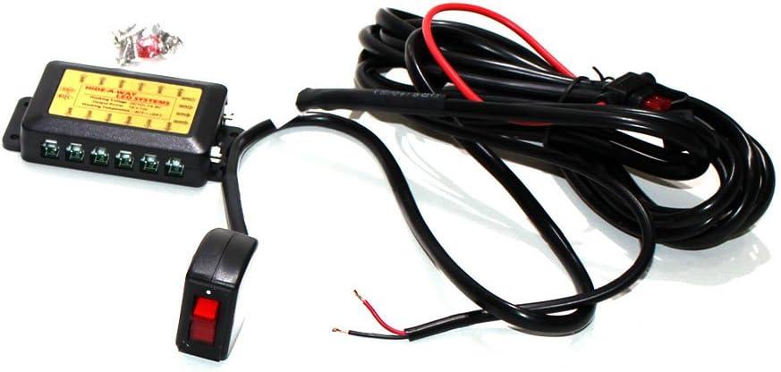 6 Head Euro LED Strobe Amber and White LED Strobe Lights Kit