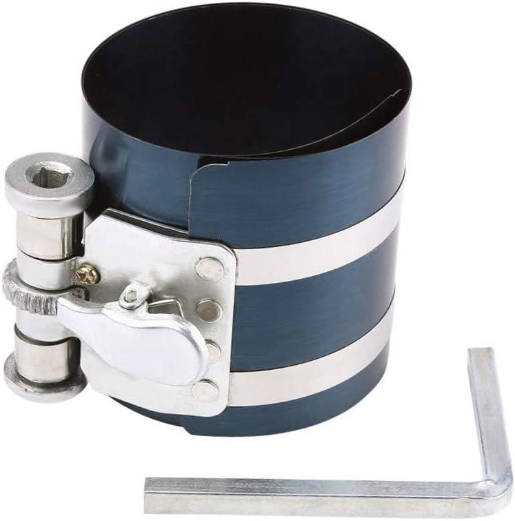 DEDC Compresor de anillo de pistón de 3 pulgadas, herramienta de extracción de pistón de trinquete ajustable, capacidad de compresión de 2 pulgadas a 6.9 pulgadas