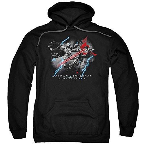 Trevco Men's Batman Vs. Superman Lightning Vision Hoodie Sweatshirt at Gotham City Store