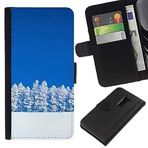 All Phone Most Case / Oferta Especial Cáscara Funda de cuero Monedero Cubierta de proteccion Caso / Wallet Case for LG G2 D800 // Nature Beautiful Forrest Green 118