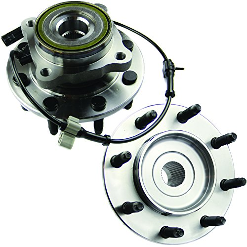 MOTORMAN 515058 Front ABS Wheel Hub and Bearing Set - Both Left and Right - Pair of (Front Wheel Hub Set)