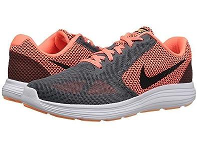 c697df72b7ec Nike Wmns Revolution 3 Women Running Shoe Dark Grey  Black - Bright Mango -  Peach cream (7UK) (9.5US)  Amazon.in  Shoes   Handbags