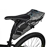 E-Goal Roswheel Full Waterproof 7L TPU Bicycle Saddle Bag Under Back Seat Bag With Rollable Opening and Reflective Logo for Outdoor Sports Cycling, Mountain, Tail Bag Storage Bag