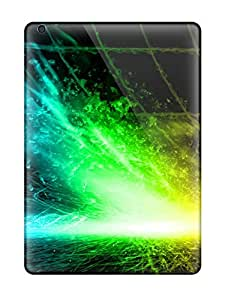 Durable Defender Case For Ipad Air Tpu Cover(bright Color Splatter )