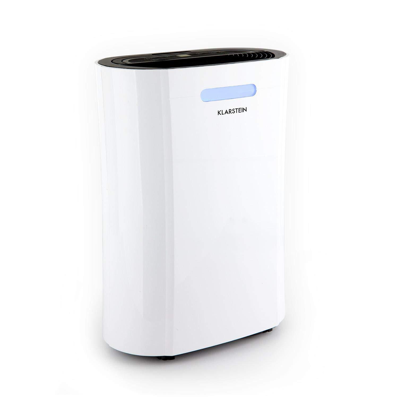 Klarstein Drybest 10 • Luftentfeuchter • Luftreiniger • elektrischer Raumentfeuchter • 10 Liter/24 h • 205 Watt Kompressor • integrierter Luftfilter • 18-20 m² • 1, 9 Liter Tank • weiß-grau