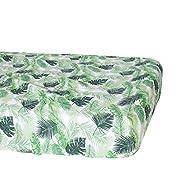 Bebe au Lait Classic Muslin Crib Sheet, Palms