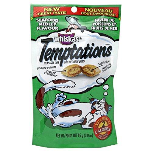Whiskas Temptations Seafood Medley Cat Treats, 3.3 oz