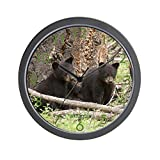 CafePress - ''Bear Cub Twins'' Wall Clock - Unique Decorative 10'' Wall Clock