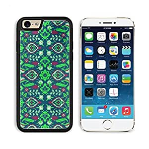 Beautiful Dark Green Abstract Vintage Floral Pattern Punktail's Collections iPhone 6 Cover Premium Aluminium Design TPU Case Open Ports Customized Made to Order