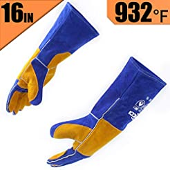 RAPICCA Leather Forge Welding Gloves Hea...