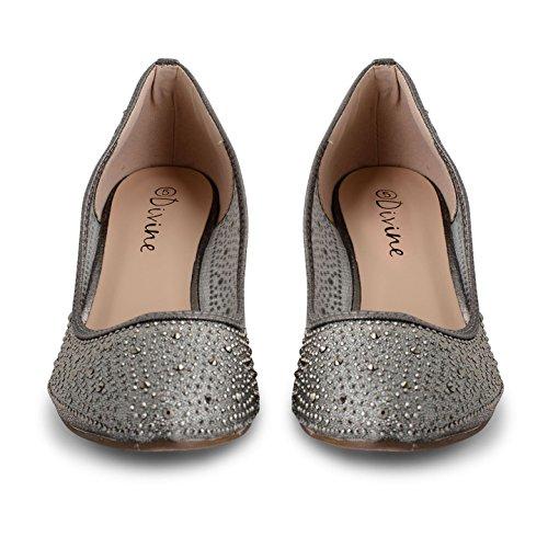 Footwear Sensation - Zapatos de tacón mujer gris