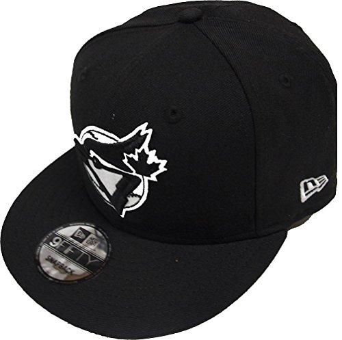 New Era Toronto Blue Jays Black White Logo Snapback Cap 9fifty Limited Edition (Caps Toronto Jays Blue)