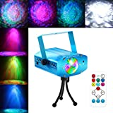 Blingco Strobe Light Water Ripples Laser Projector Water Wave LED Stage Lighting Sound Activated Ocean Wave DJ Disco Laser Light 7 Color with Remote Control for KTV Party Karaoke Club Bar Wedding