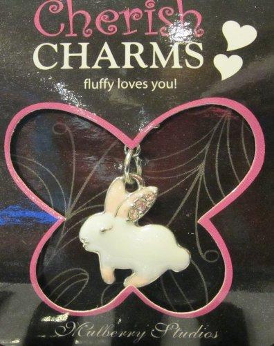 Bracelet/necklace/keychain's Charm: Rabbit ( Fluffy Loves You)