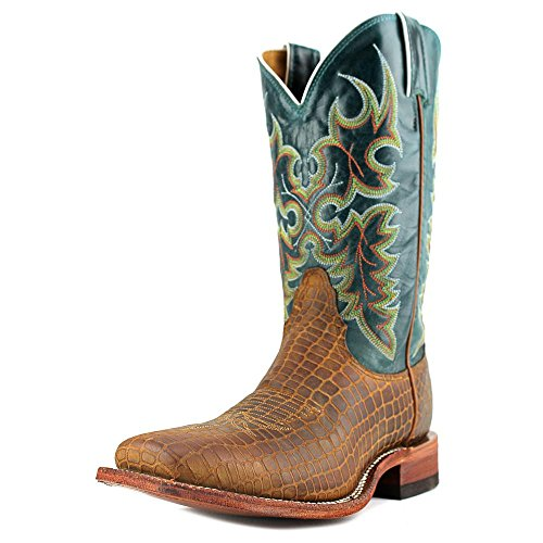 Nocona Western Boots Womens Gator Print Square Toe 9 B Cognac LD2743 (Nocona Leather Jeans)