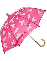 Girls' Little Printed Umbrellas, Rainbow Unicorns, One Size