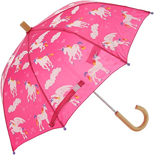 Hatley Girls' Little Printed Umbrellas, Rainbow Unicorns, One Size]()