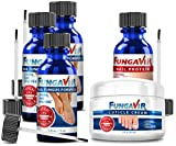 Fungavir: The Effective Nail Fungus Solution (3 bottles + 1 nail protein + 1 cuticle cream)