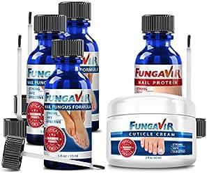 Fungavir: The Effective Nail Fungus Solution (3 bottles + 1 nail protein + 1 cuticle cream)