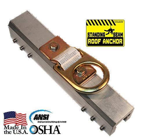Standing Seam Roof Anchor Fall Protection - Roof Fall Arrest Anchors